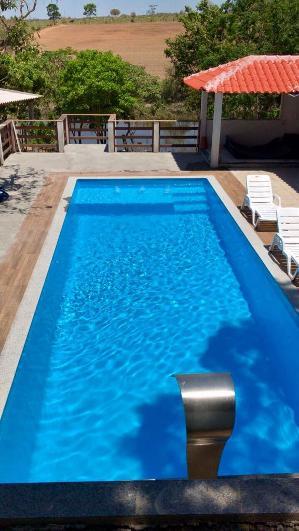 Piscina De Fibra Oceano Azul Piscina De Fibra Bem Grande